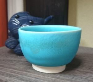 pot-turquoise blue